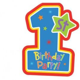 First Birthday Boy Invites