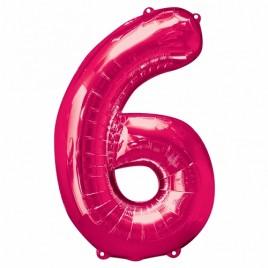 6 Pink Foil