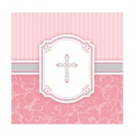 Blessing Pink Luncheon Napkins