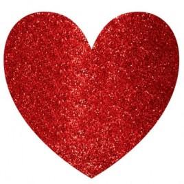 Glitter Hearts Cutout