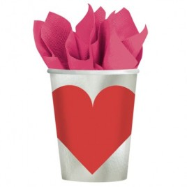 Heart Paper Cups 266ml