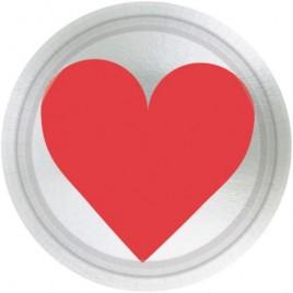 Heart Paper Plates 17.7cm