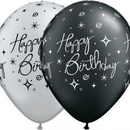 Black & Silver Birthday Elegant