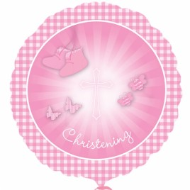 18″ Christening Foil Balloon (Girl)