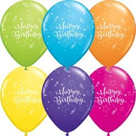 Multi Coloured Shining Birthday 6Pk