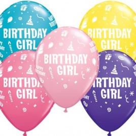 Birthday Girl Multi Coloured 6Pk