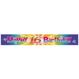 Happy 16th Birthday Banner