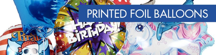 Printed Foil Balloons Banner D4
