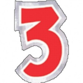 Number 3 Sticker