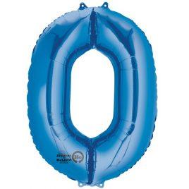 Blue Number 0 Foil