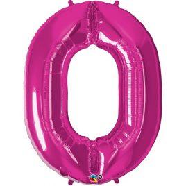 Pink Number 0 Foil