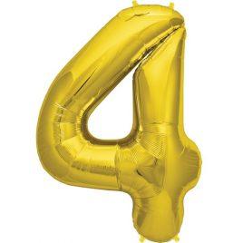 Gold Number 4 Foil
