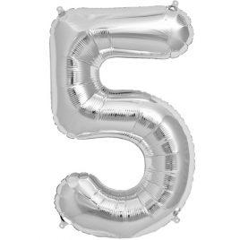 Silver Number 5 Foil