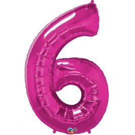 Pink Number 6 Foil