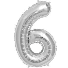 Silver Number 6 Foil