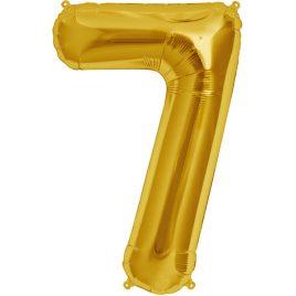 Gold Number 7 Foil