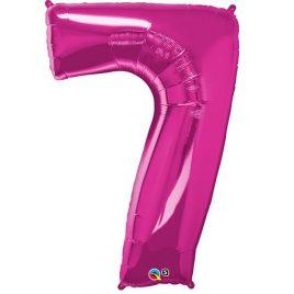 Pink Number 7 Foil