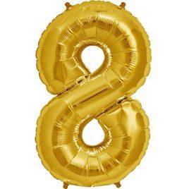 Gold Number 8 Foil