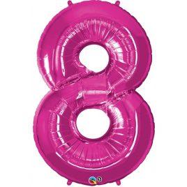Pink Number 8 Foil