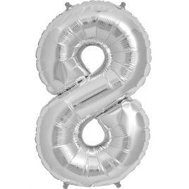 Silver Number 8 Foil