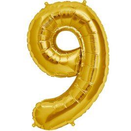 Gold Number 9 Foil