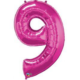 Pink Number 9 Foil