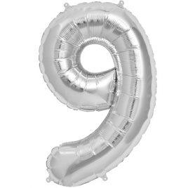 Silver Number 9 Foil