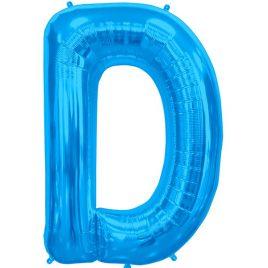 D Blue Letter Foil