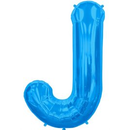J Blue Letter Foil
