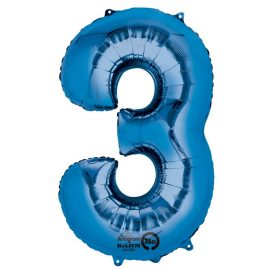 Blue Number 3 Foil
