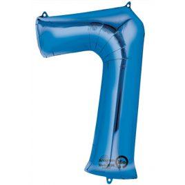 Blue Number 7 Foil