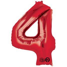 Red Number 4 Foil