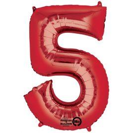 Red Number 5 Foil