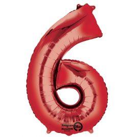 Red Number 6 Foil
