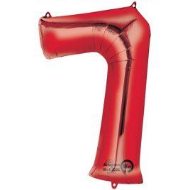 Red Number 7 Foil