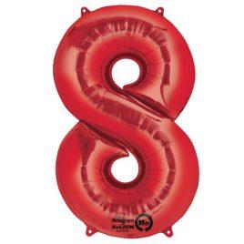 Red Number 8 Foil