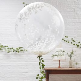 Large Confetti Latex – White