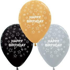 Silver,Black & Gold Birthday