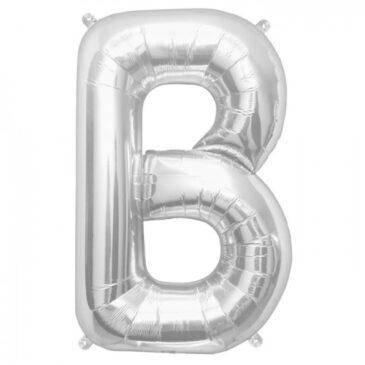 B Silver Letter Foil