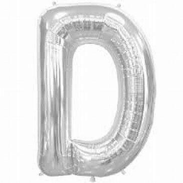 D Silver Letter Foil