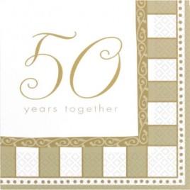50 Years Napkins