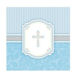 Blessing Blue Luncheon Napkins
