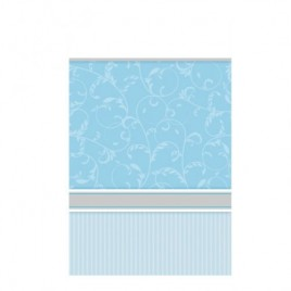 Blessing Blue Plastic Tablecover