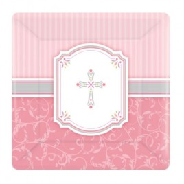 Blessing Pink Plates (Small)