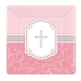 Blessing Pink Plates (Large)