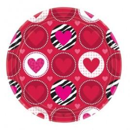 Heart Paper Plates 22.8cm