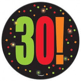 30th Blinking Badge
