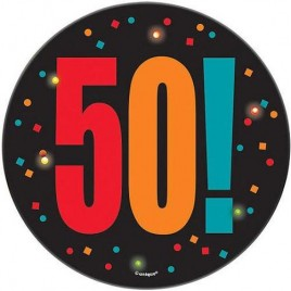 50th Blinking Badge