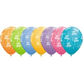 Multi Coloured Birthday A Round