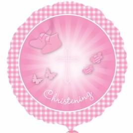 18″ Christening Foil Balloon (Girl)